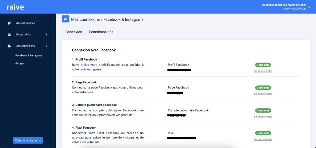 Connexion à Facebook - Raive.app